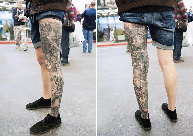 Тату на ноге мужские фото эскизы черно белые