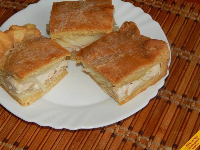 Курник с курицей и картошкой - рецепт с фото Чудо-Повар