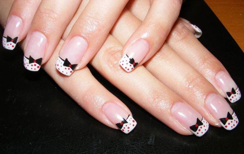 Маникюр бантики на ногтях фото