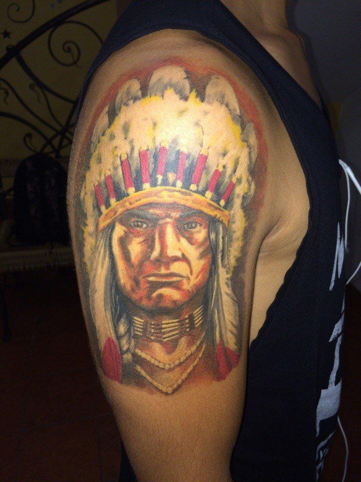 Тату индейцев в реализме