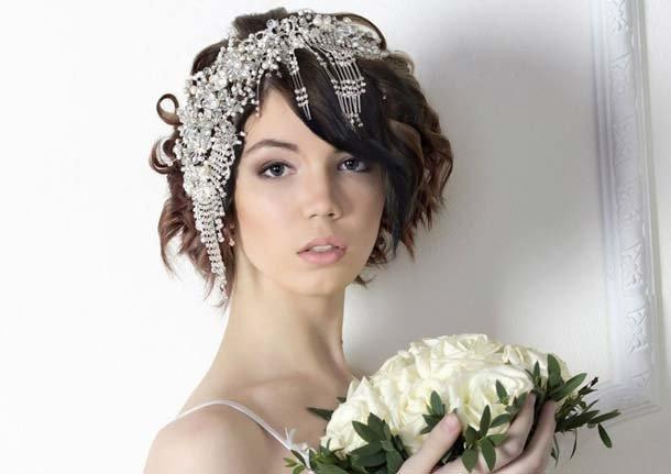 Короткие волосы свадебные прически только