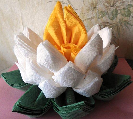 Мастер класс цветы из бумажных салфеток