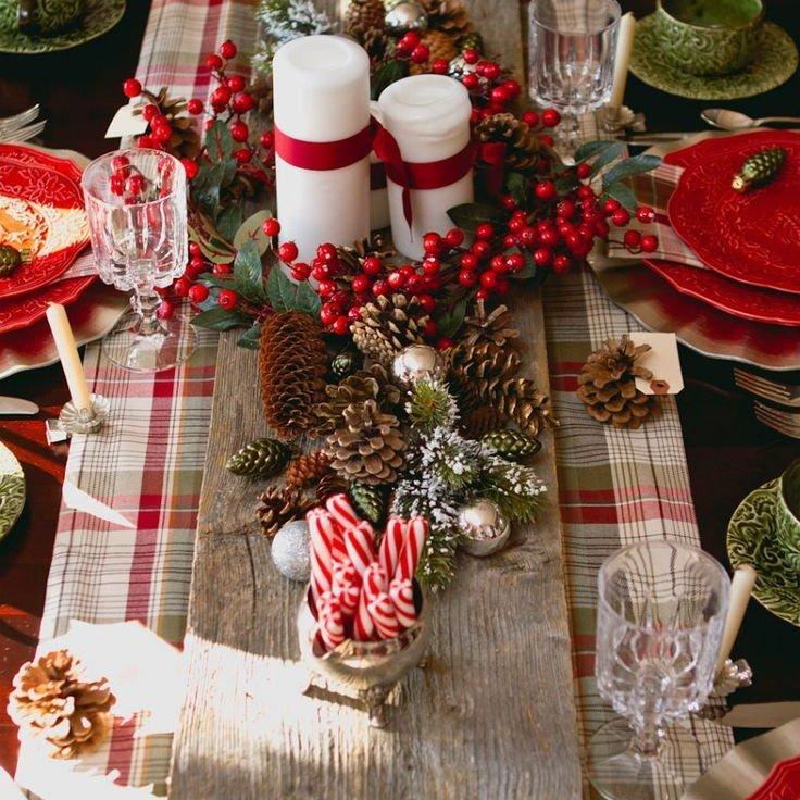 Рождественский стол своими руками