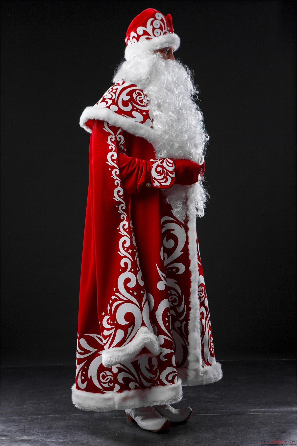 Как сшить костюм Деда Мороза без расходов 5
