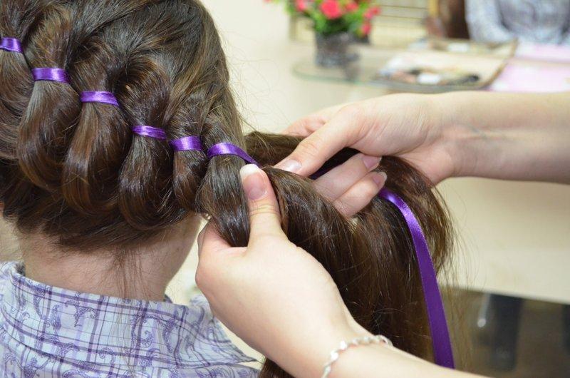 Фото плетения косичек из волос