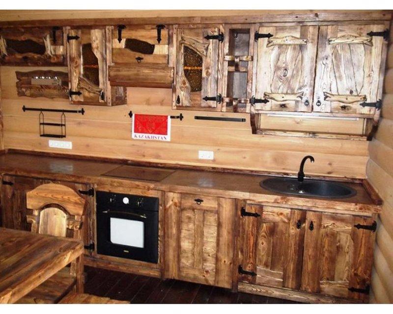 Как сделать кухонный гарнитур своими руками под старину