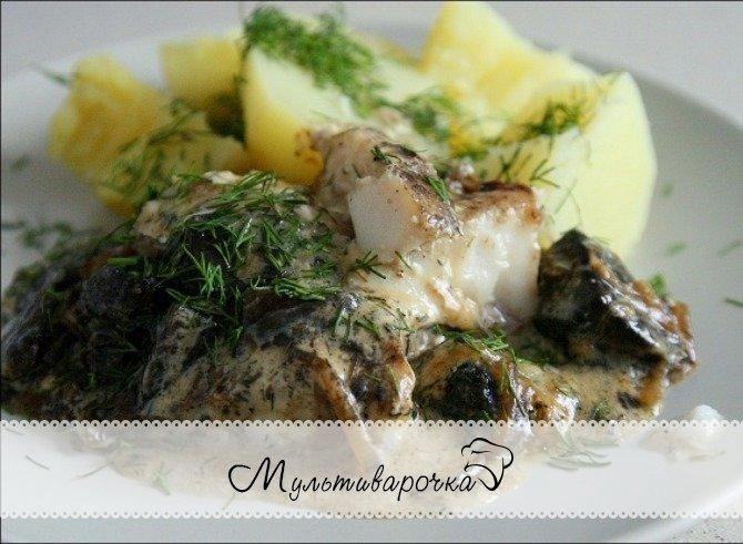Рыба в мультиварке поларис рецепты с фото пошагово