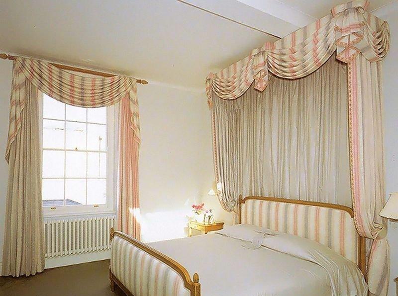 Фасоны штор для спальни фото своими руками 46