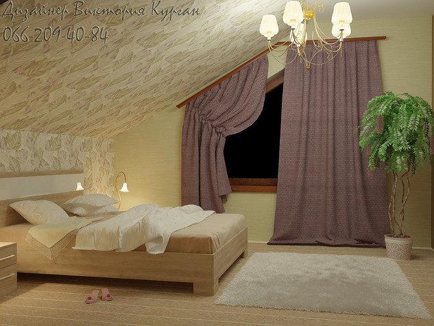 Мансардный этаж интерьер фото для спальни