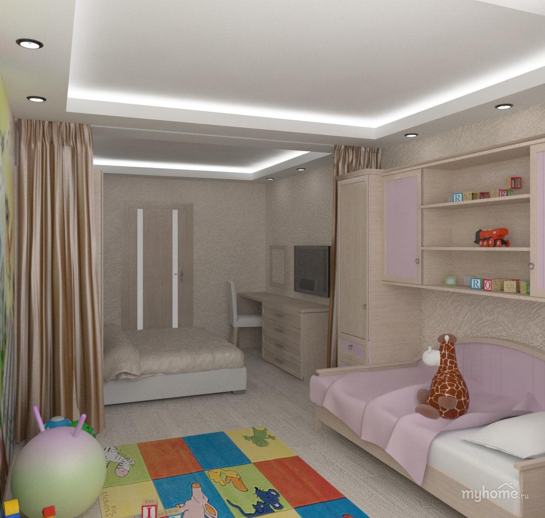 Как сделать детскую в однокомнатной квартире (23 фото) 68