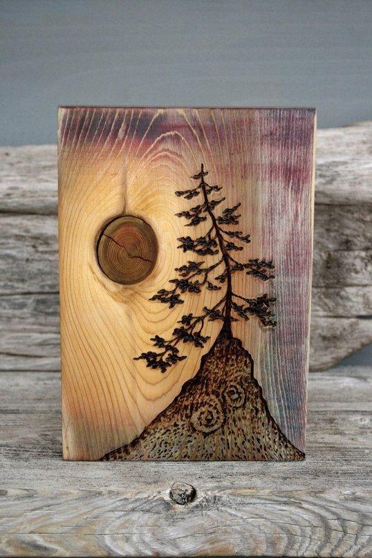 Поделки из дерева с выжиганием