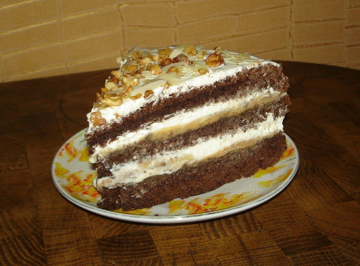 Банановый бисквитный торт рецепт пошагово в домашних условиях