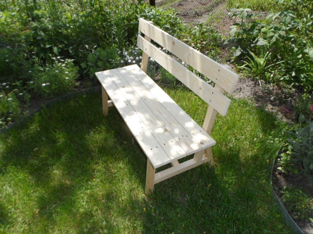 Сделать скамейку своими руками в саду