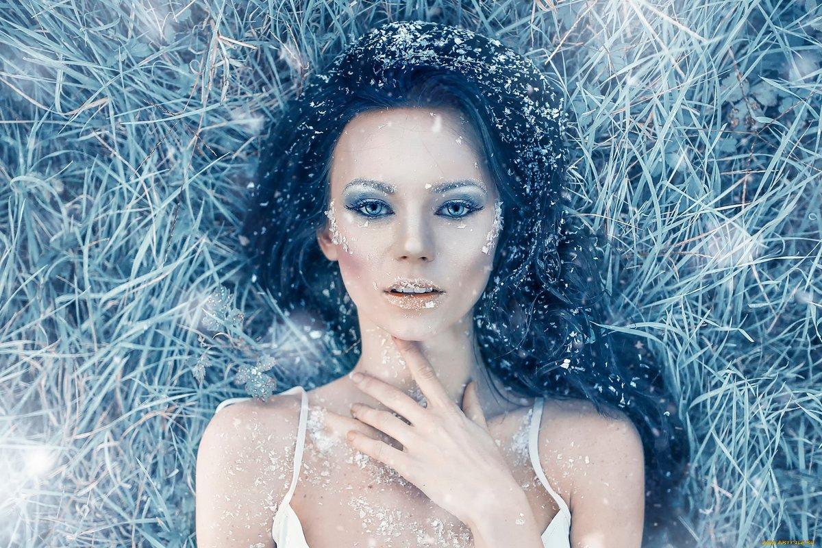 Женщина зима макияж фото