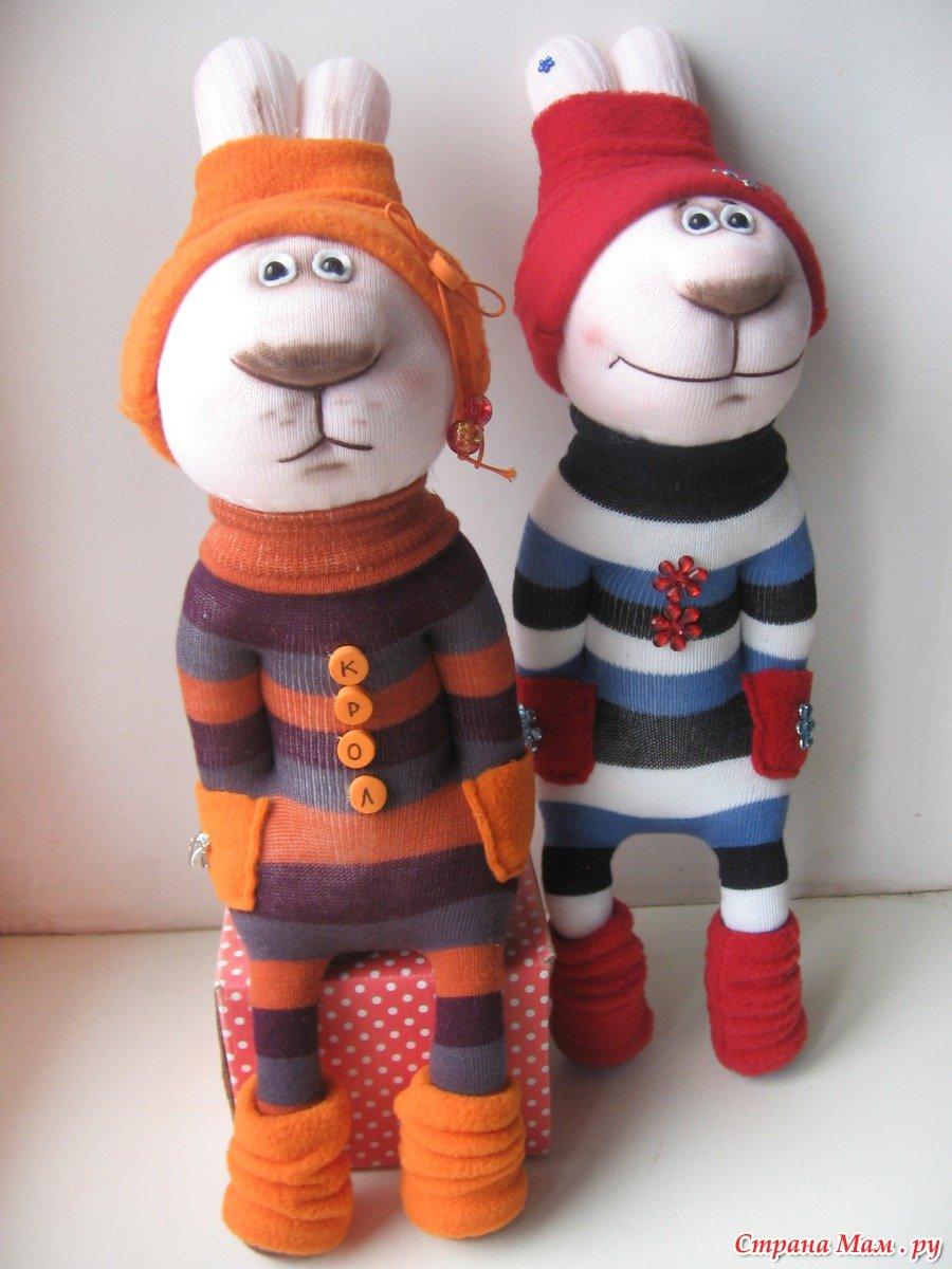 Новогодние игрушки своими руками из носков колготок мастер класс