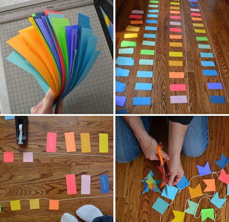 Сделать флажок из бумаги своими руками