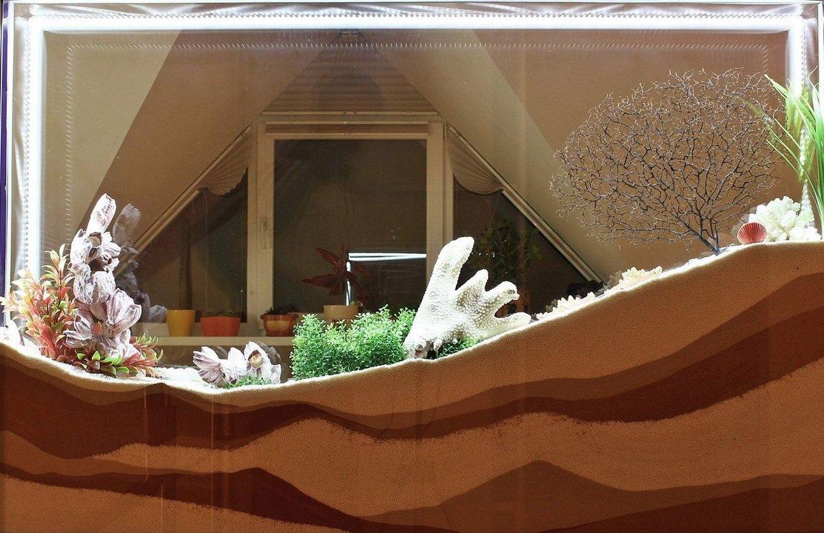 Имитация аквариума своими руками