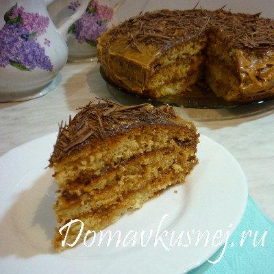 Торт со сгущенкой на скорую руку