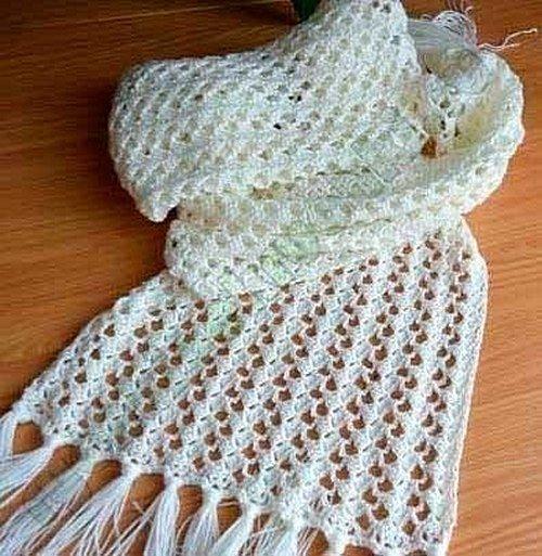 Картинки по запросу связать ажурный шарф спицами