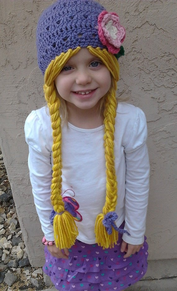 Связать своими руками шапку для девочки 61