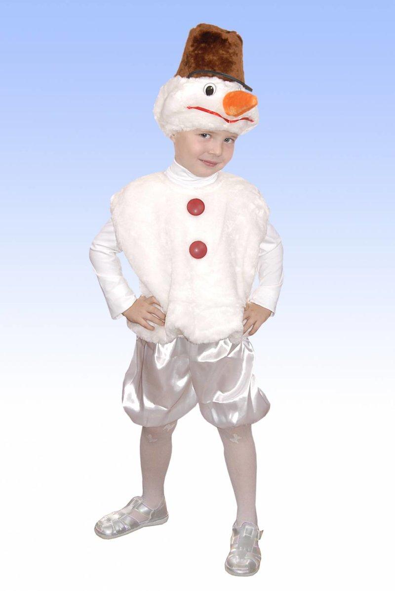 Костюм снеговика для мальчика своими руками из