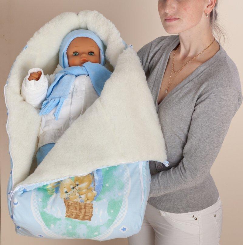 Как сшить зимний конверт для новорожденного своими руками мастер класс
