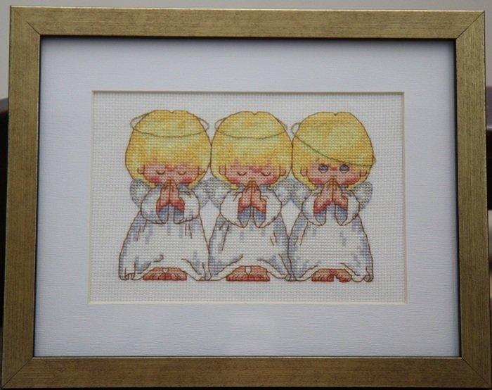 Схемы для вышивки три ангелочка 97
