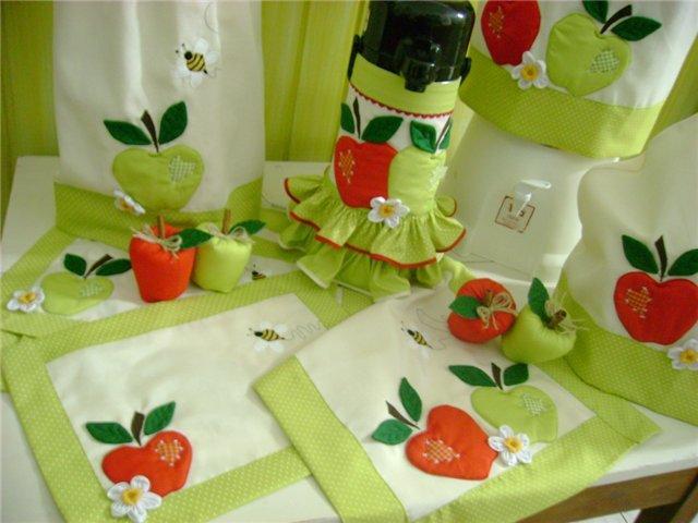 Аксессуары из ткани для кухни