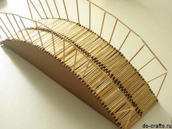 Как из спичек сделать мостик