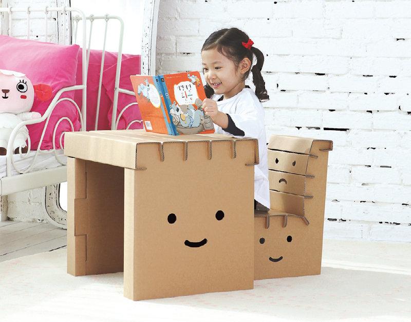 Как сделать из картона стульчик