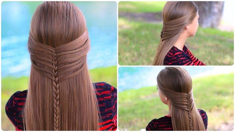 Красивые причёски на 1 сентября на длинные волосы