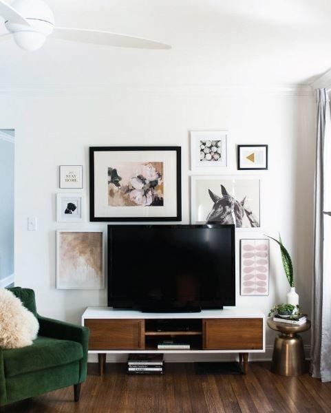 Как оформить зону телевизора в гостиной идеи 2017