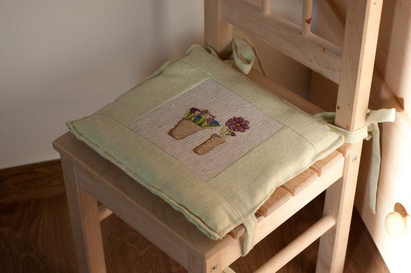Шьем подушку на стул своими руками 2