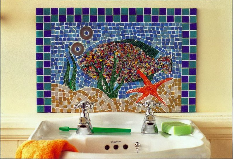Картина для ванны своими руками
