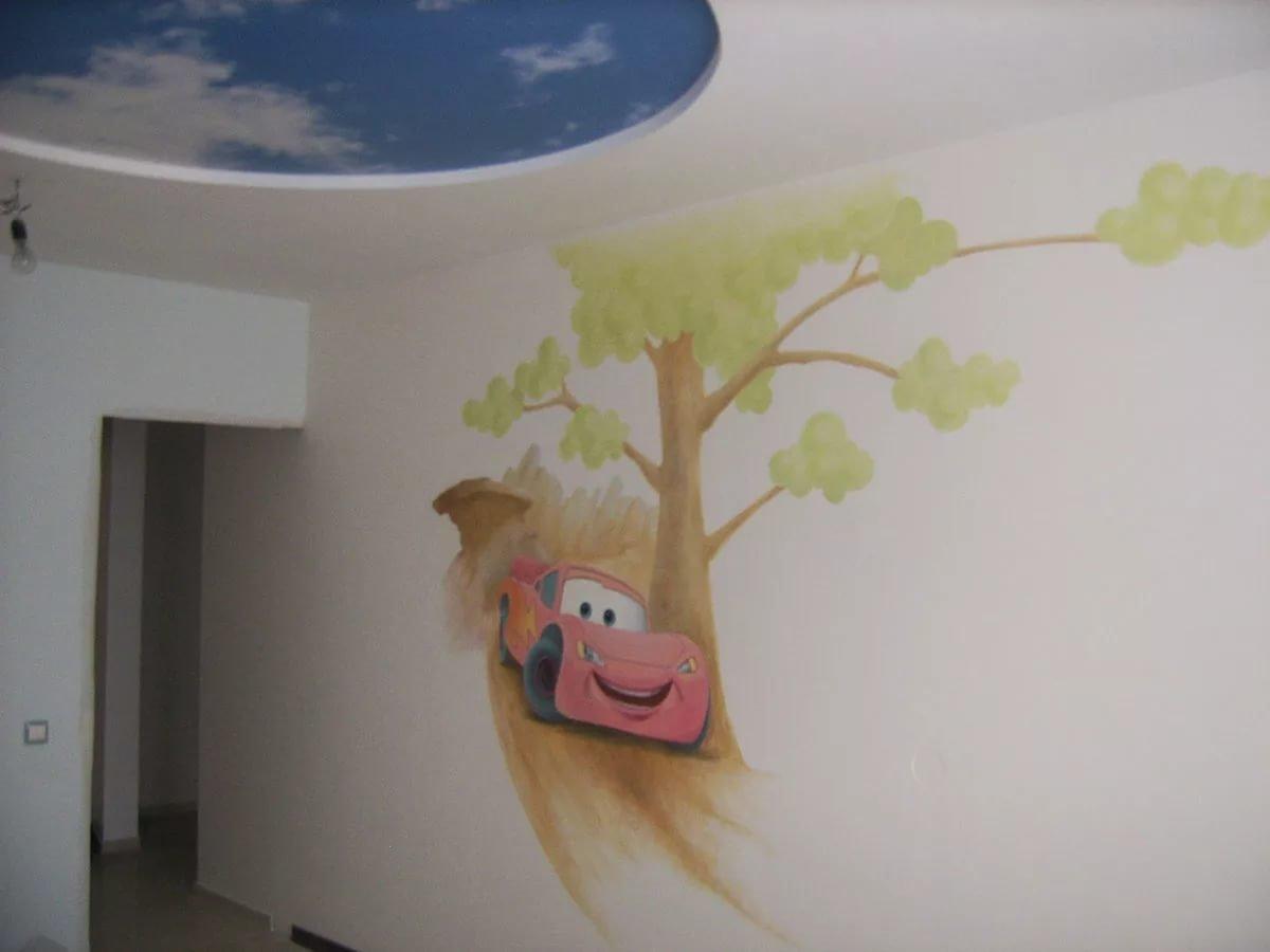Стены с рисунками своими руками 410