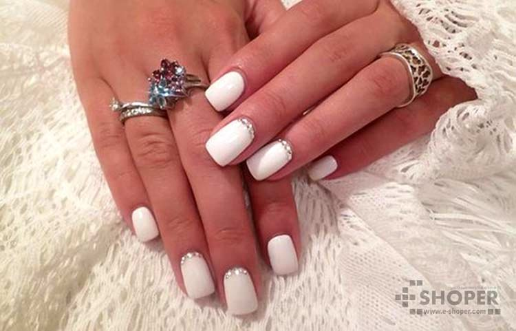 Ши лак белый на ногтях