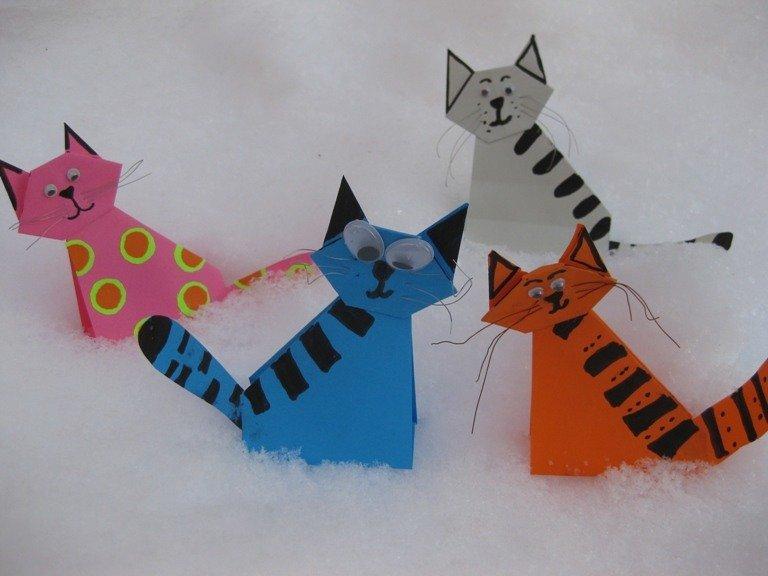 Кошка своими руками из бумаги