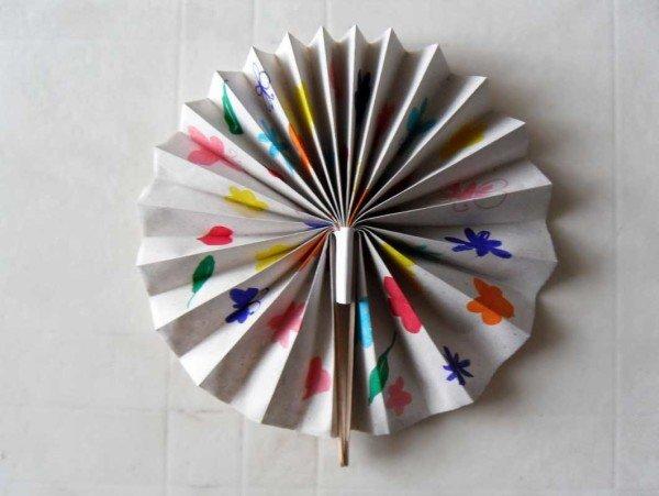 Как сделать украшение из бумаги веер своими руками из 356