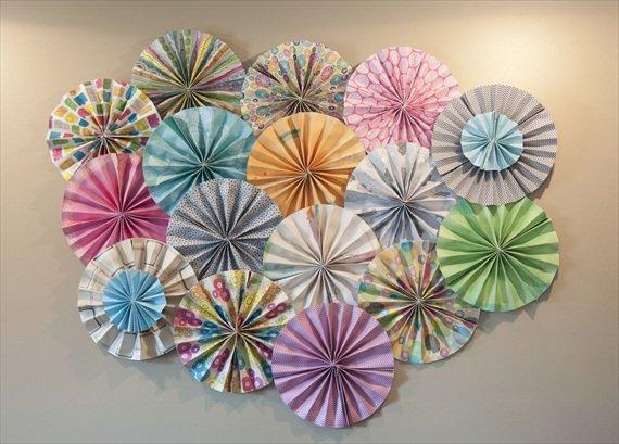 Зонтики на стену из бумаги своими руками 6