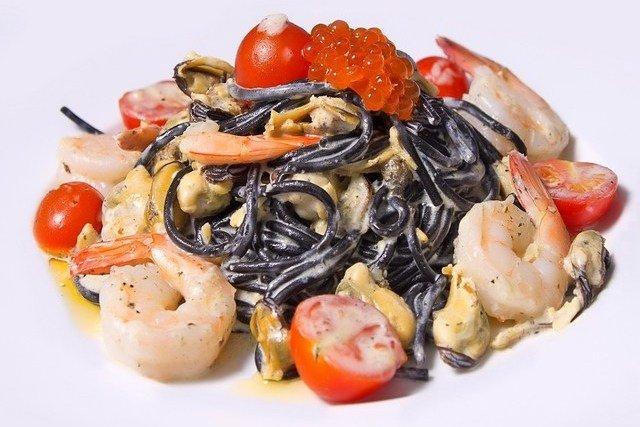 Паста из морепродуктов в сливочном соусе рецепт с пошагово