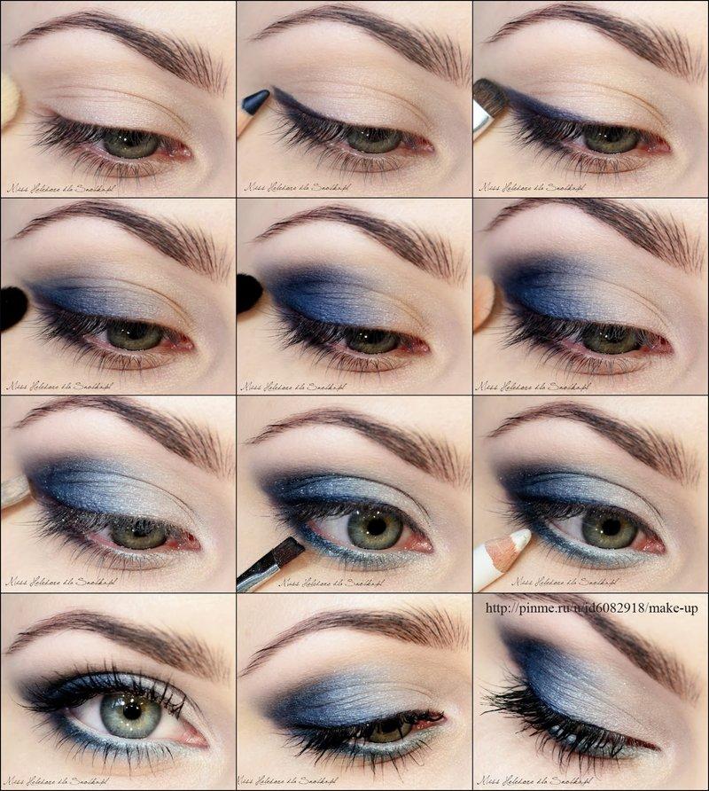 Макияж для серо голубых глаз пошаговое для начинающих