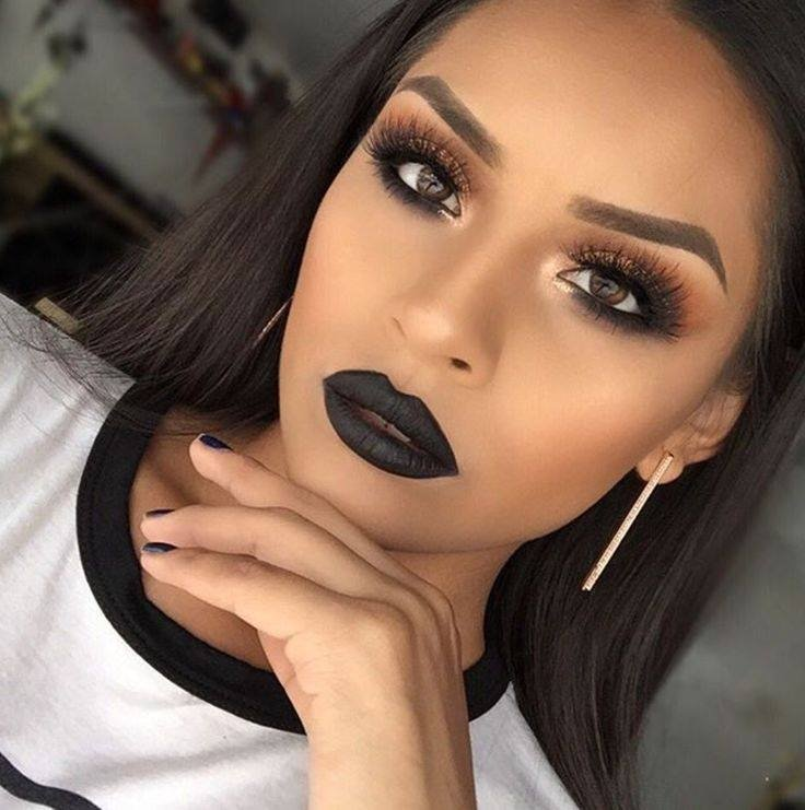 Фото черного макияжа