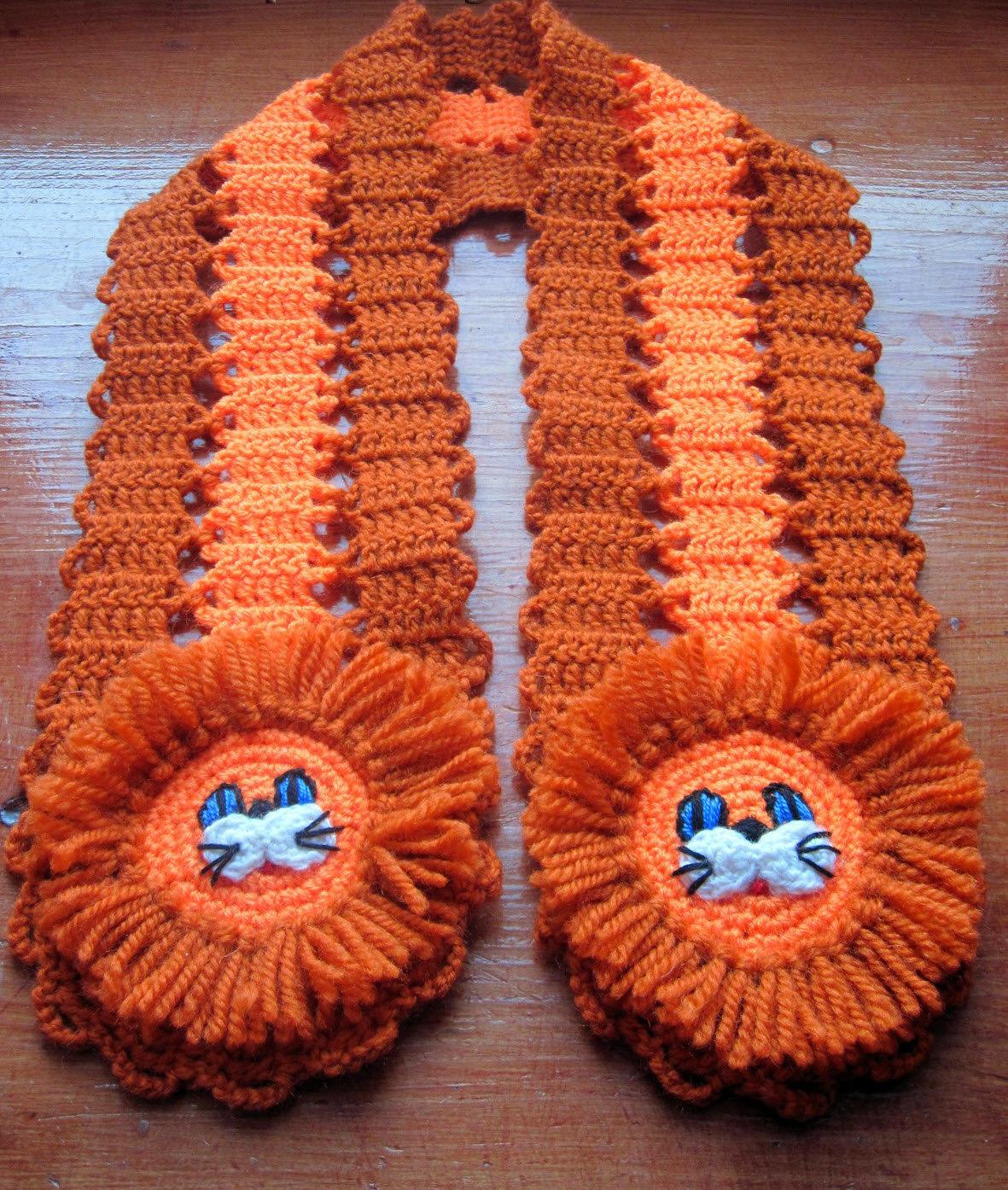Вязание крючком шарфик для ребенка