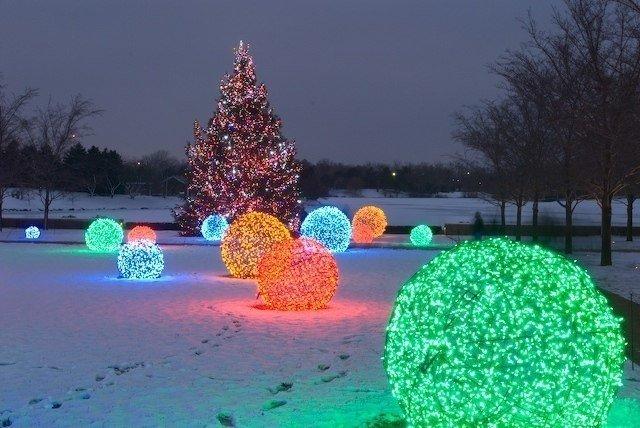 Светящиеся шары для сада своими руками