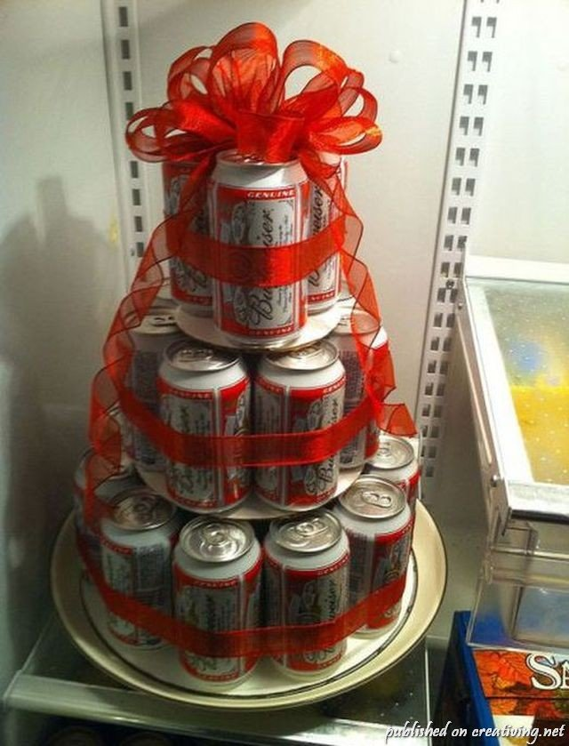 Как сделать торт из пивных банок своими