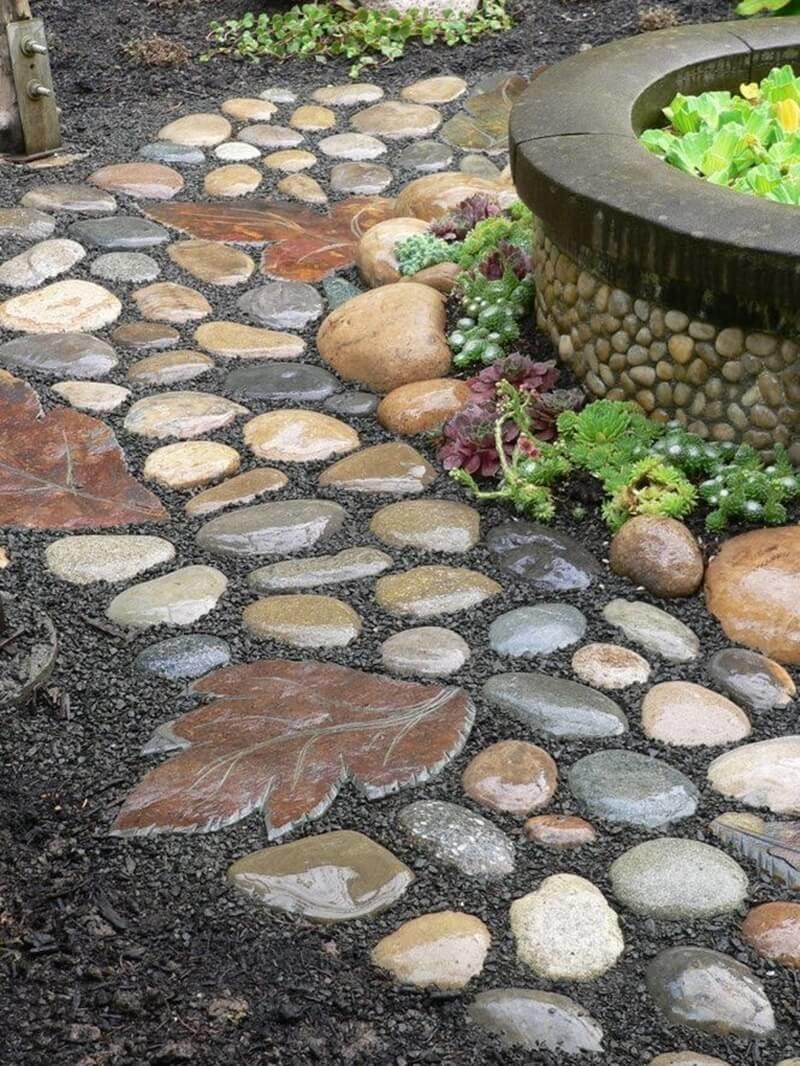 Поделки из камней своими руками фото для дачи и сада 74