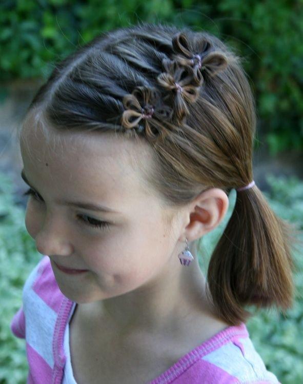 Прически на короткие волосы на девочек 11