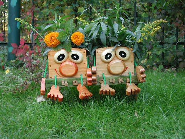 Поделки для сада своими руками простые