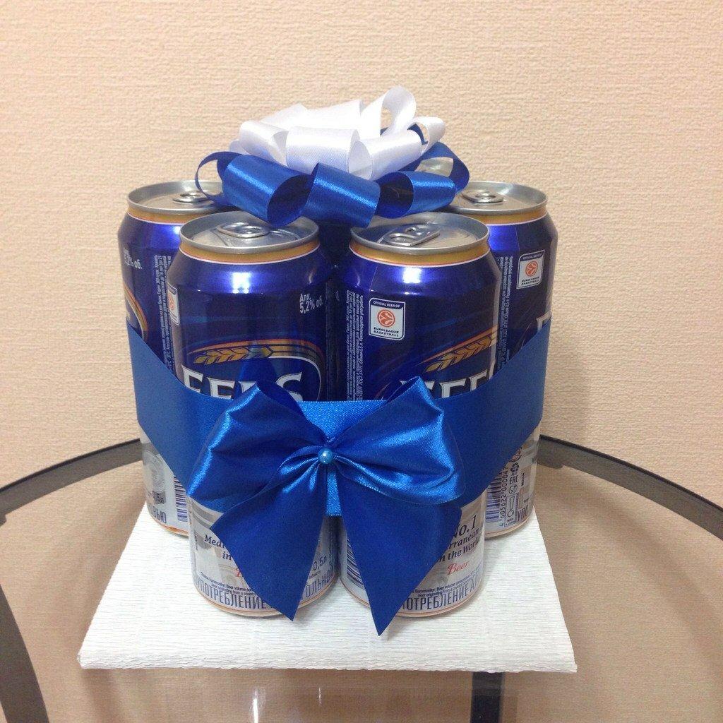 Подарок для мужчины на день рождения своими руками из пива 14