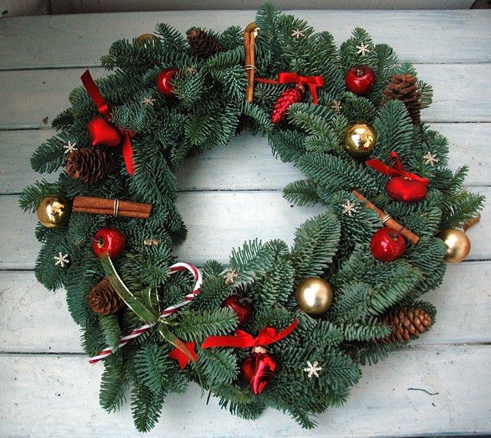 Как делать своими руками рождественский венок